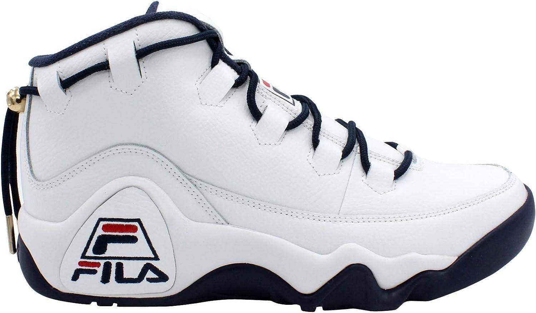 Fila Mens 95 Primo Sneaker, White/Navy