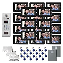 Apartment Building Video Entry 18 7 inch color monitor door panel kit