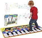 Tencoz Musical Piano Mat 19 Keys Piano Keyboard Play Mat Portable