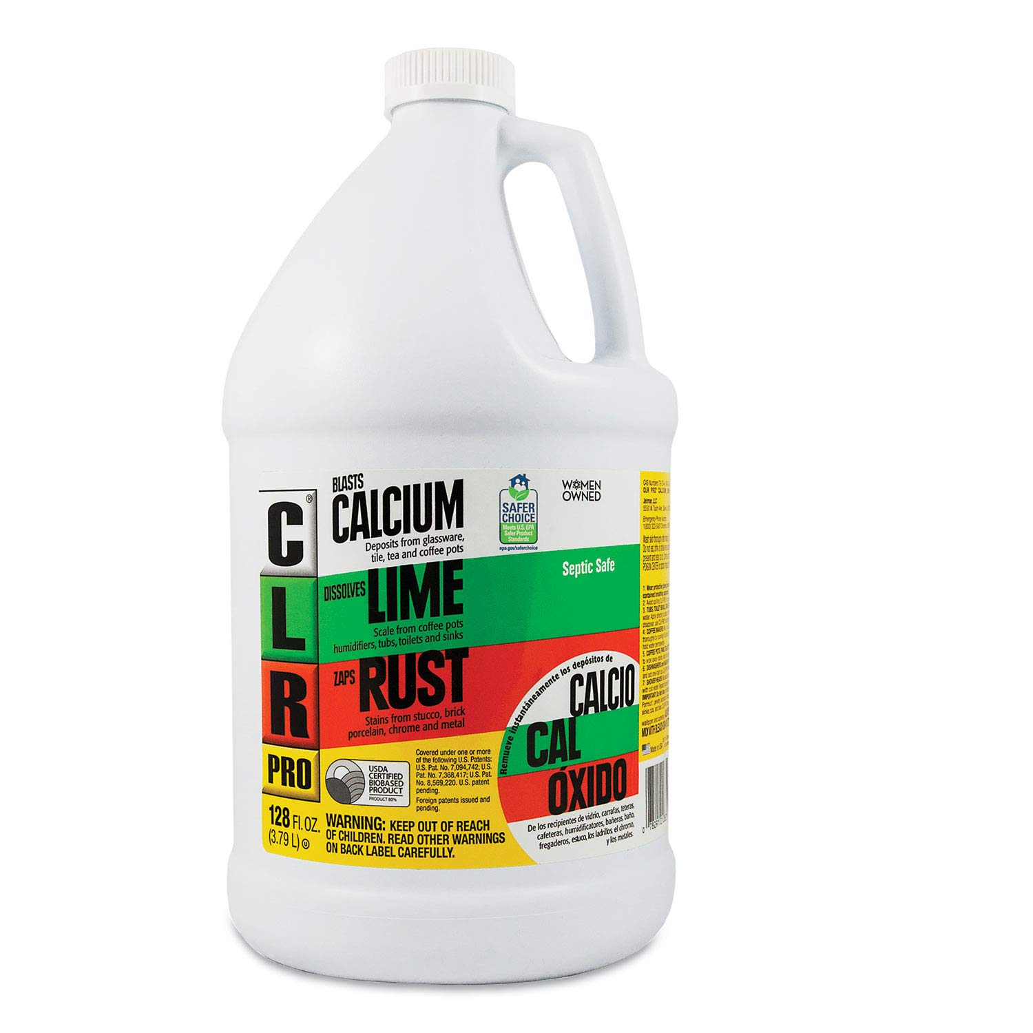 CLR Pro CL-4Pro Calcium, Lime and Rust Remover, 1 Gallon - Pack of 4 by Jelmar