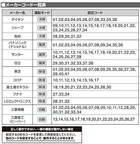 ELPA(エルパ) エアコンリモコン RC-36AC 家電 秋冬家電 ab1-1102705-ak [簡易パッケージ品]