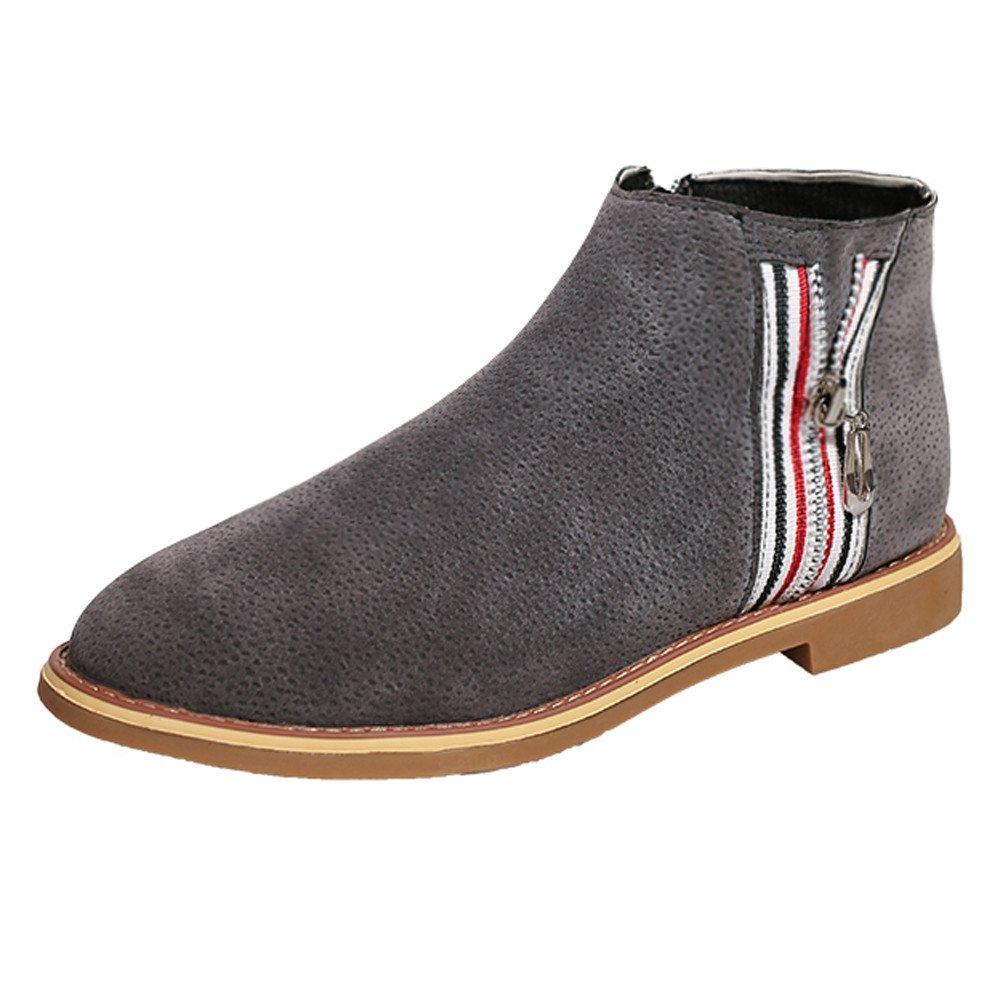 6bb93219bfe Amazon.com: Women Ankle Boots Soft Leather Flat Shoes, NDGDA Fashion ...