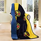 """Club America Silk Touch Sherpa Lined Throw Blanket 50x60"""""""