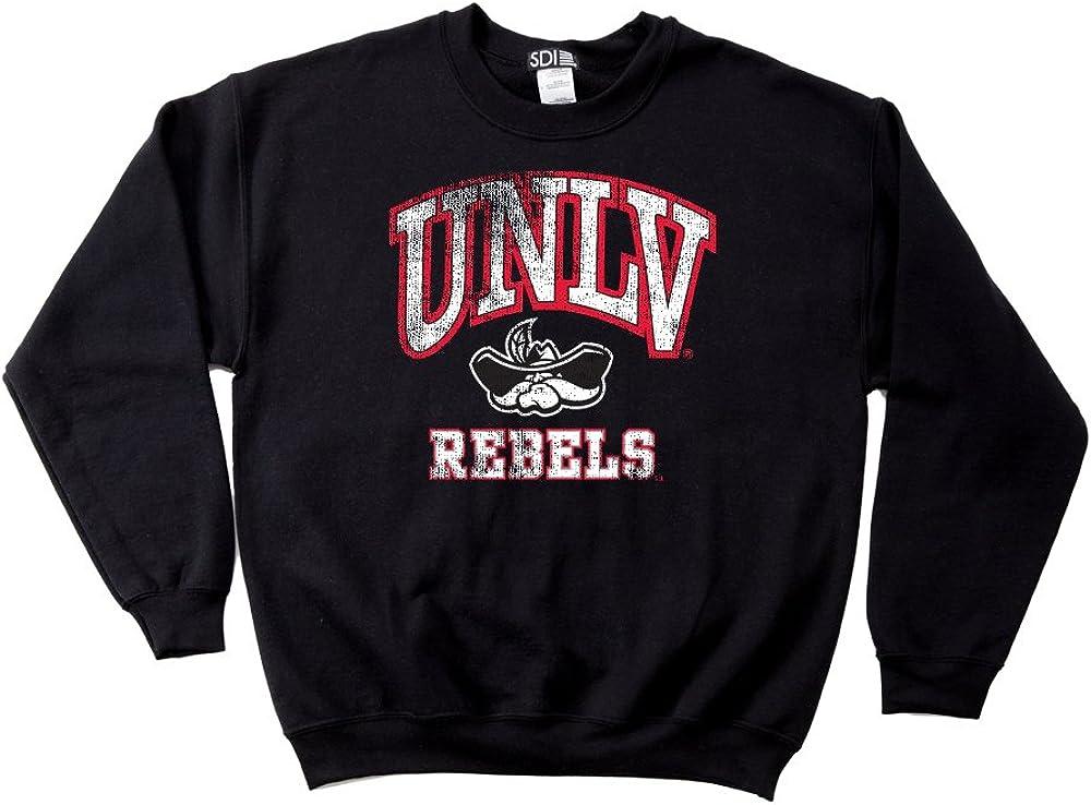 NCAA UNLV Rebels 50//50 Blended 8-Ounce Vintage Arch Hooded Sweatshirt