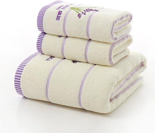 Juego de toallas de baño de algodón de tres piezas con estampado ...
