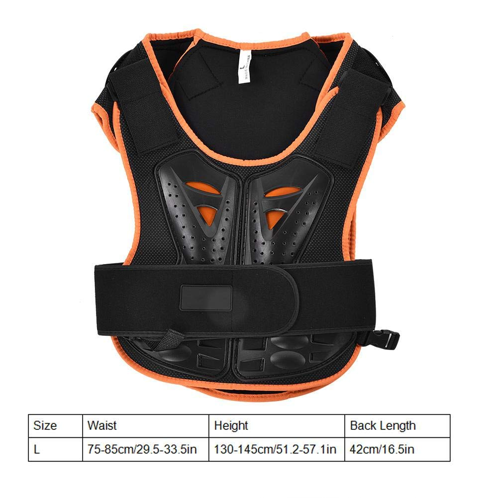 Keenso Chaleco Protector para ni/ños Kids Sports Chest Back Spine Protector Chaleco Chaqueta Anti-Fall Protective para Ciclismo