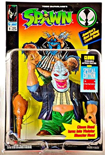 Series 1 Spawn Mcfarlane Toy - Spawn Series 1 Clown (Clown Head) Action Figure by Unknown by McFarlane