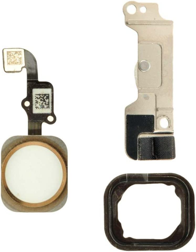Home Button Assembly for Apple iPhone 6 with Glue Card White with Gold Ring CDMA /& GSM