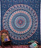 Hippie Elephant Tapestries Wall Hanging , Indian Mandala Tapestry Bedspread , Dorm Tapestry, Decorative Wall Hanging , Tapestries for Dorms
