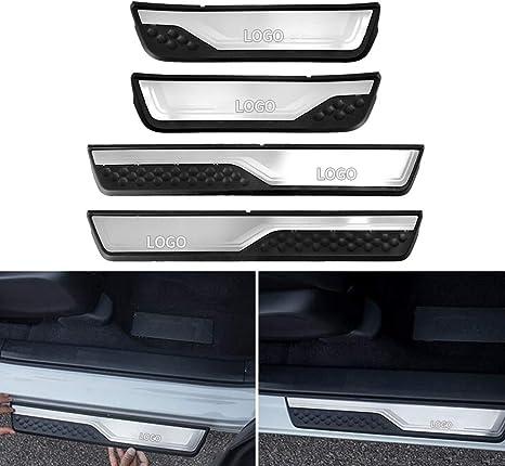 4 Door Stainless Scuff Plate Door Sill Trim For Honda Accord Sedan 2013-2017