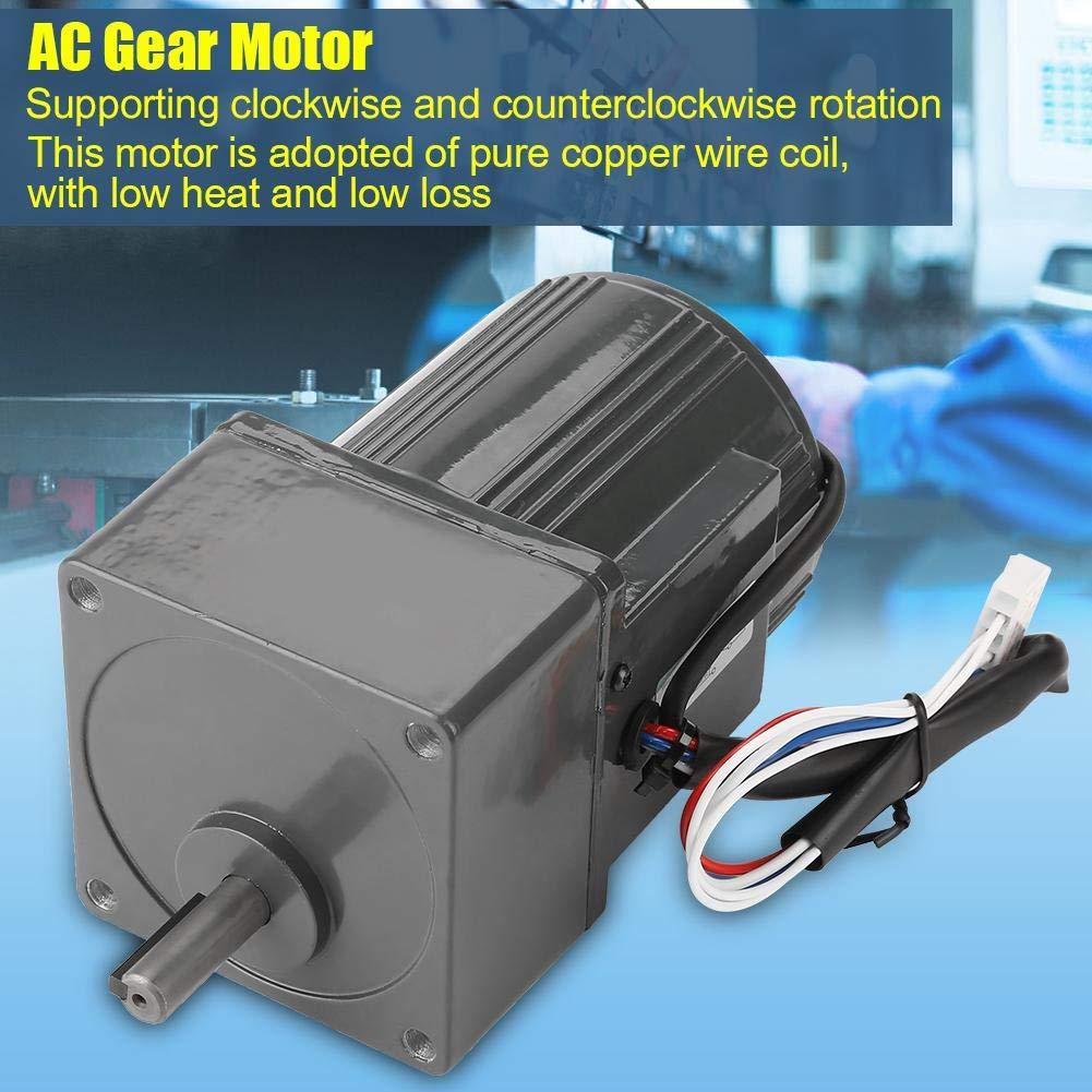 Reduction Ratio 150K AC Gear Motor,AC220V 25W Single Phase Gear Motor Adjustable Speed CW//CCW,Reduction Ratio:3K-200K