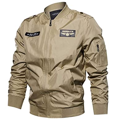 9a14a7106a9 Amazon.com  Spring Autumn Bomber Men Plus Size Army Military Air Force  Flight Jacket  Clothing