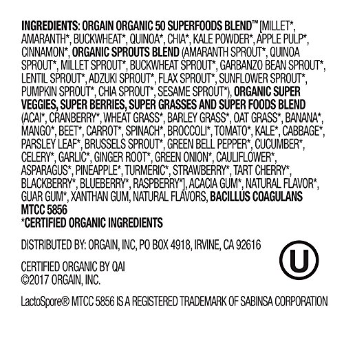 Large Product Image of Orgain Organic Superfoods, Original, Vegan, Gluten Free, Non-GMO, 0.62 Pound, 1 Count