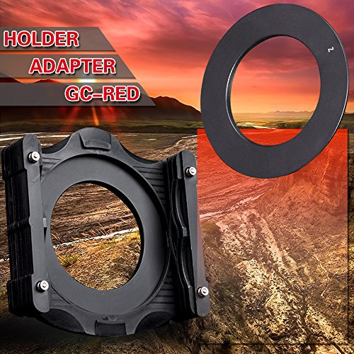Zomei 3 in1 Square Z-PRO Series Filter Holder Support + Adapter Ring 95mm+Gradual red 145*100