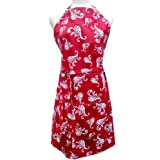 Two Lumps of Sugar Adult Apron, Paisley Spray Red