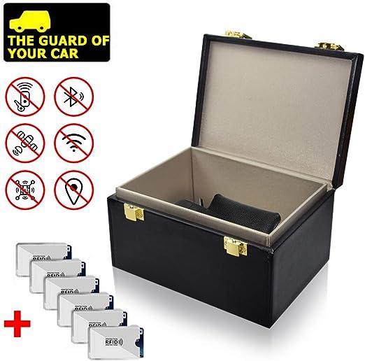 Faraday - Caja de bloqueo de señal RFID para teléfono móvil, protección de privacidad y llavero de coche, sin llave, antirrobo, caja de almacenamiento grande: Amazon.es: Juguetes y juegos