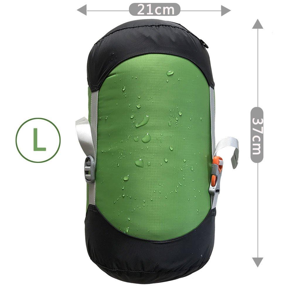WIND HARD Compression Stuff Sack Waterproof Sleeping Bag Compression Stuff Sack Pack Storage Bags 5 Size (6.7L-20L)