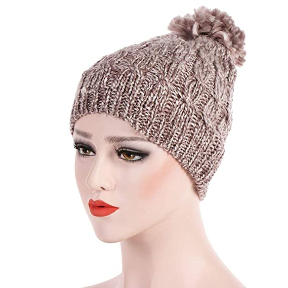 27a7d8e1f Zoylink Women's Knitted Hat Fashion Elastic Knitted Beanie Hat ...