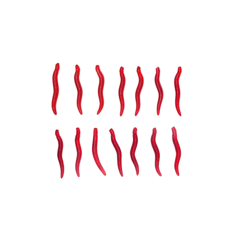 Se/ñuelos de Pescado Simulaci/ón Artificial de Silicona Suave Gusanos de Lombriz Cebos SANLIKE 250 Piezas