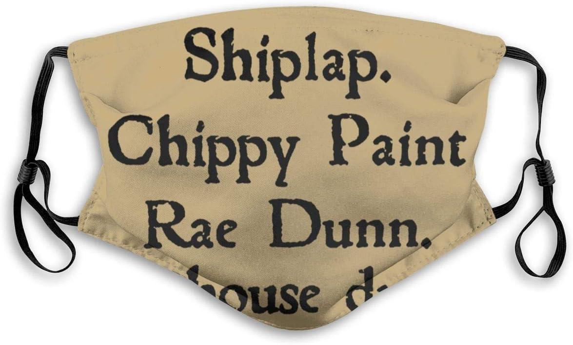 Olive Croft Protector de la Cara Cubierta de la Boca Shiplap.Chippy Paint RAE Dunn Farmhouse Dreams S Graphic con Filtro