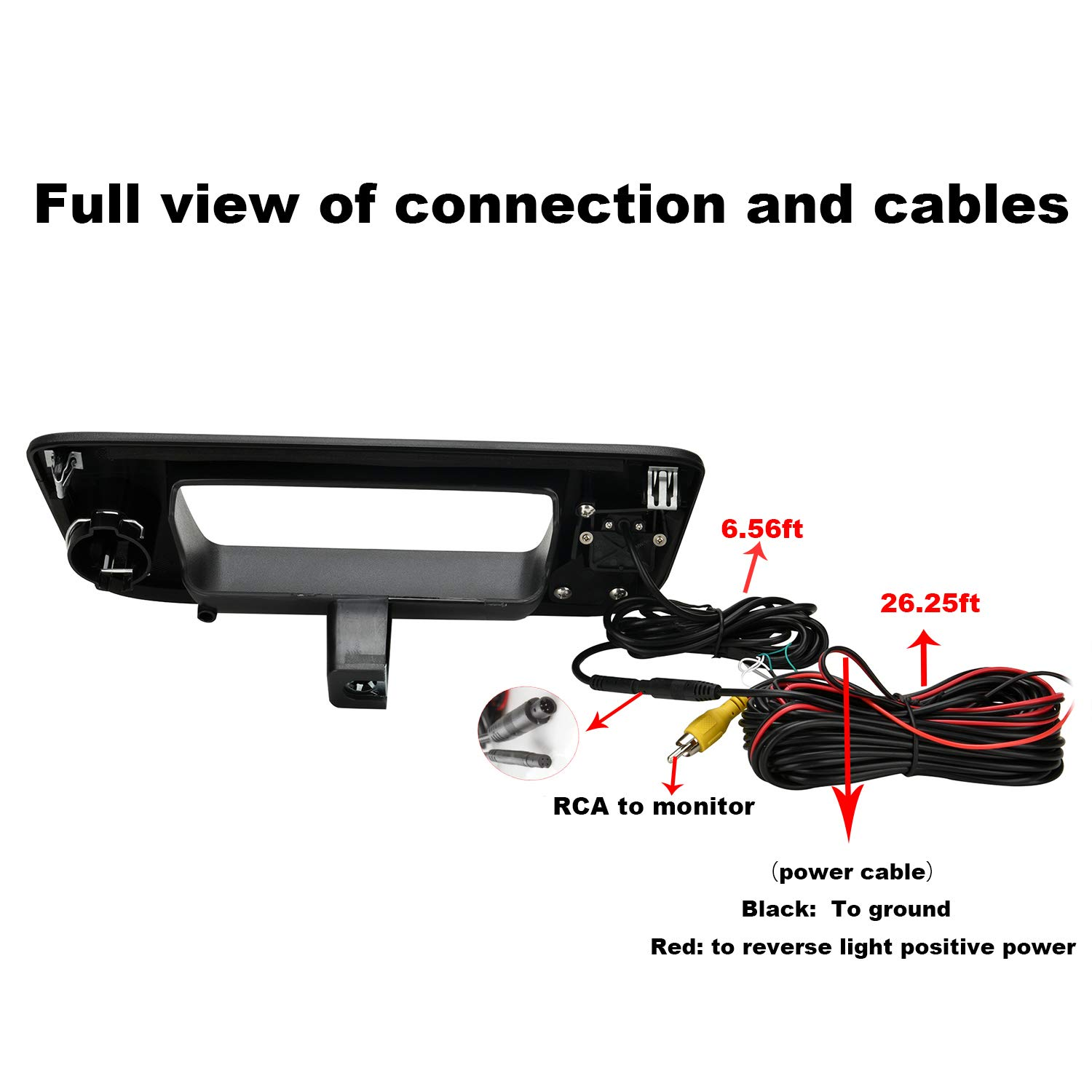 Canying Tailgate Truck Handle Back up Reverse Rear View Camera for Chevrolet//GMC Silverado Sierra 2007-2013 Shenzhen Zhuohan Technology Co Ltd CA-ZH910L