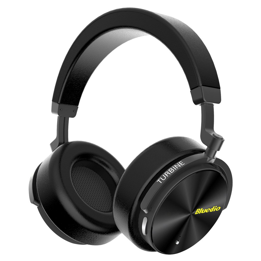 Bluedio T5 Active Noise Cancelling Wireless Bass Bluetooth Headphones Portable Stereo Headsets with Mic for Phones and Music Over Ear Gift (Black)