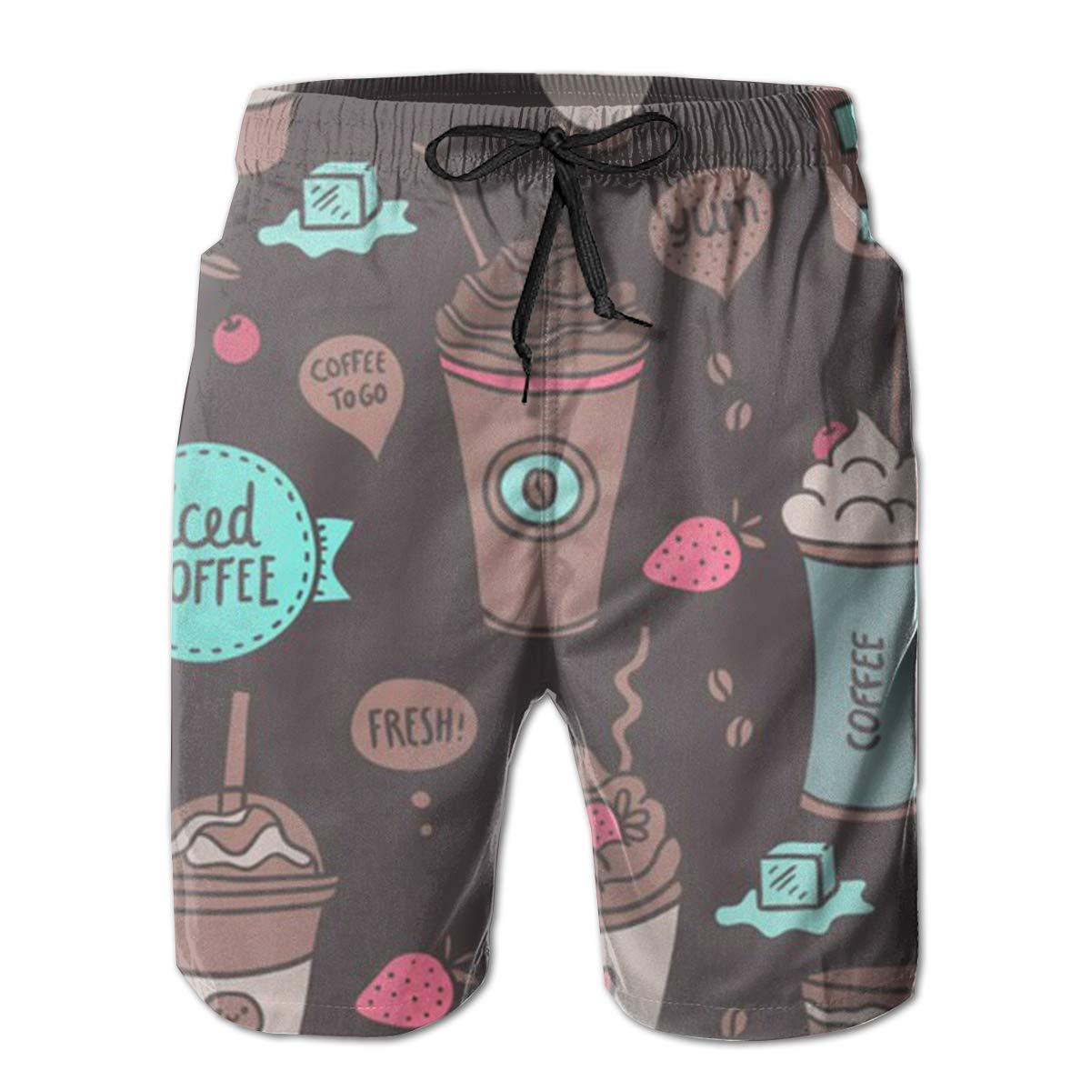 Sweet Drinks Swim Shorts Mens Swim Trunks Beach Shorts Board Shorts