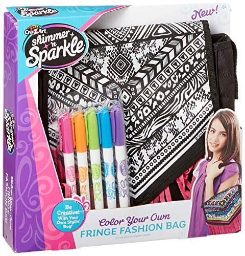 Cra-Z-Art Shimmer and Sparkle  Color Craze Fringe Messenger  Bag
