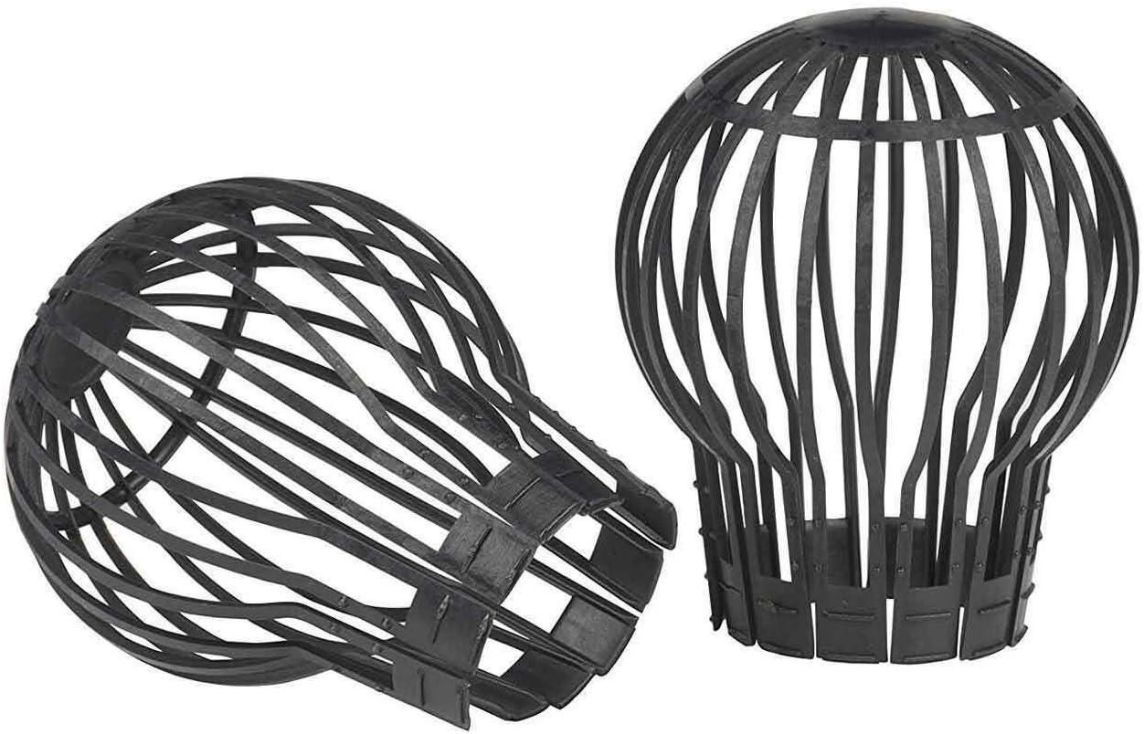 SIDCO Fallrohrschutz 2 x Laubschutz Dachrinne Gitter Regenrohrschutz Dachrinnenschutz