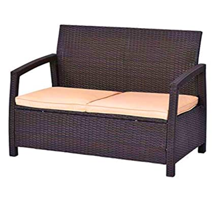 Brilliant Amazon Com Sts Supplies Ltd Compact Loveseat Patio Lounge Creativecarmelina Interior Chair Design Creativecarmelinacom