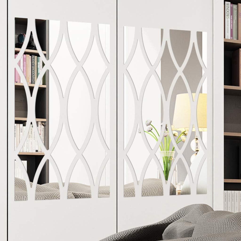 Adhesivos de pared en 3D con diseño geométrico, 18 unidades, para decorar la pared, el salón, el dormitorio