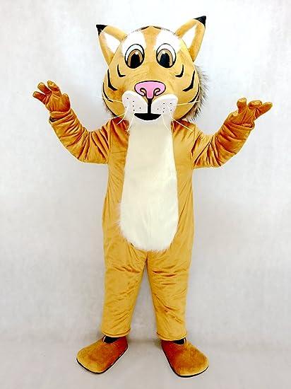 f63ae9473 Amazon.com : Fierce New Friendly Bobcat Mascot Costume : Sports ...