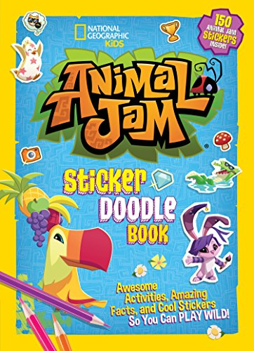 Animal Jam Sticker Doodle Book