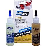 CECCORP C-TOUGH Epoxy Adhesive Two-Part Epoxy Glue for Metals, Aluminum, Glass, Fiberglass, Masonry, Wood, Stones, Rigid Plas