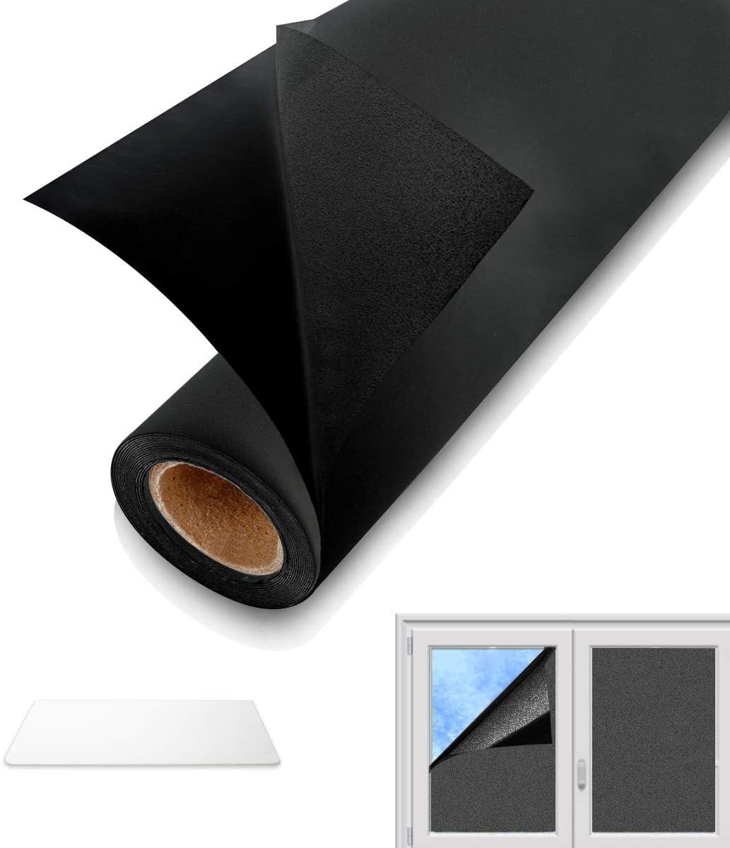 Adatto per Casa Soggiorno Camera da Letto Ufficio Bianco, 44.5x200 cm Pellicola Riflettente Finestre Anti UV QXMCOV Pellicola Specchio Oscurante per Vetri Finestre Autoadesiva per Privacy