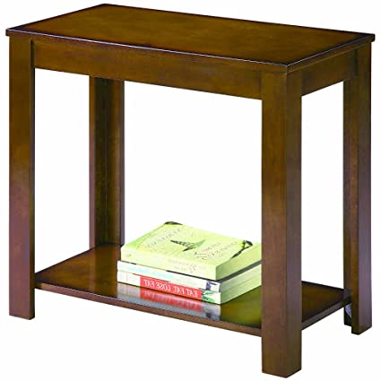 Amazon Com Narrow Chairside Table Bedside Signature Wooden