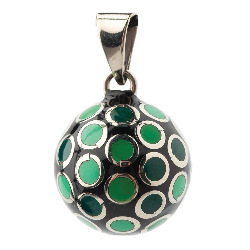 Bola BOLAVO102 - Colgante en forma de bola para embarazadas, diseño de lunares, color verde