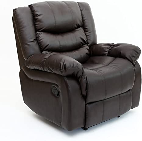 SEATTLE BONDED LEATHER RECLINER ARMCHAIR - Best Leather Recliner Chair