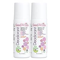 2 Pack - Good For You Girls Aluminum Free Natural Deodorant, Kids, Teens, Vegan,...