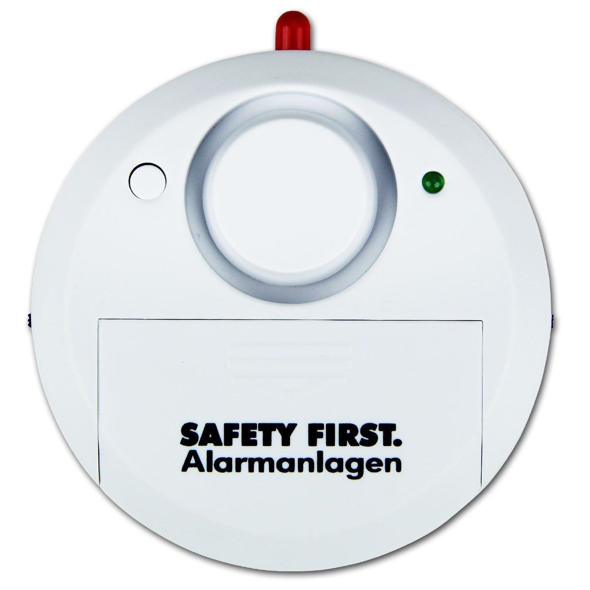 2 x Safety First Glasbruchalarm Weiß Glasbruchmelder Glasbruchsensor Einbruchschutz