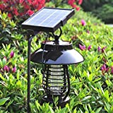 MOCREOMultifunctional Solar LED Light Super Capacity Mosquito Fly Bug Insect Trap Night Lamp Killer Repellent Zapper 220V Home Eco-Friendly Baby Protection Home Improvement Gadget Brown