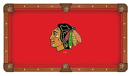 Amazoncom Chicago Blackhawks Pool Table Cloth Sports Fan - Blackhawk pool table