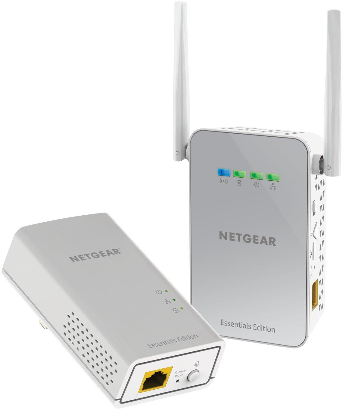NETGEAR PowerLINE 1000 Mbps WiFi, 802.11ac, 1 Gigabit Port - Essentials Edition (PLW1010-100NAS) by NETGEAR