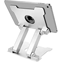 KABCON Quality Tablet Stand,Adjustable Foldable Eye-Level Aluminum Solid Up to 13.5-in Tablets Holder for Microsoft…