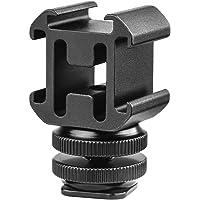 TOAZOE Aluminium Camera Hot Shoe Mount Adapter Video Accessory Triple Cold Shoe Bracket Lights, LED Monitors…