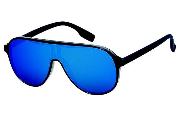 LUNETTES SOLEIL Homme Femme Style Carrera Mono-verre Miroir Flash Sport  TOPCAR (Bleu) bd2cc488487e