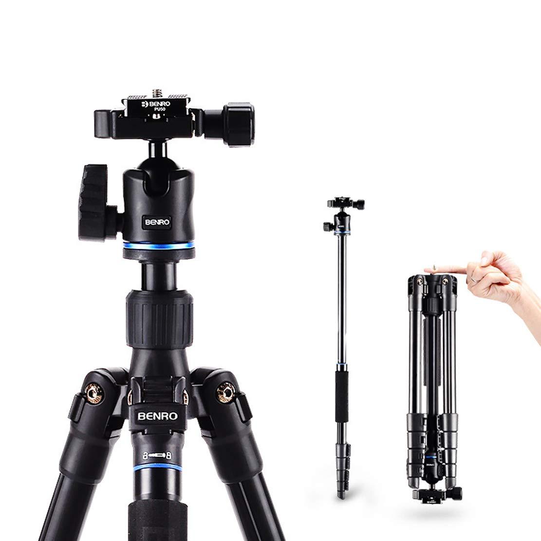 三脚 コンパクトで軽量、持ち運びが容易、360度回転、中間軸反転、高強度アルミニウム合金1/4国際インタフェース(ほとんどのカメラに対応),IT25 IT25  B07R17T9HT