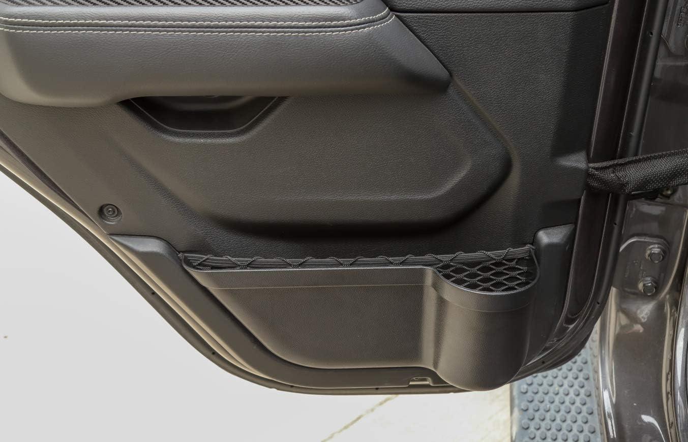 Bestmotoring Jeep JL ABS Front Door Storage Tray Organizer Car Front Door Pocket Storage Accessories for Jeep Wrangler JL JLU 2018-2019