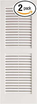 Alpha VNB1539WHOL Open Louver 2 Pack 14 x 39 White