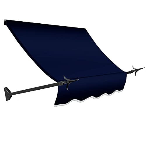 Awntech 3-Feet New Orleans Awning, 31-Inch Height by 16-Inch Diameter, Navy